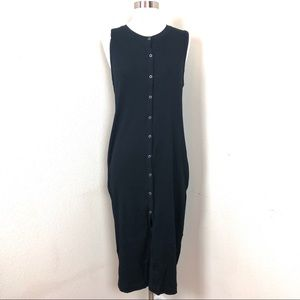 Zara Tank  Midi Dress Black Large